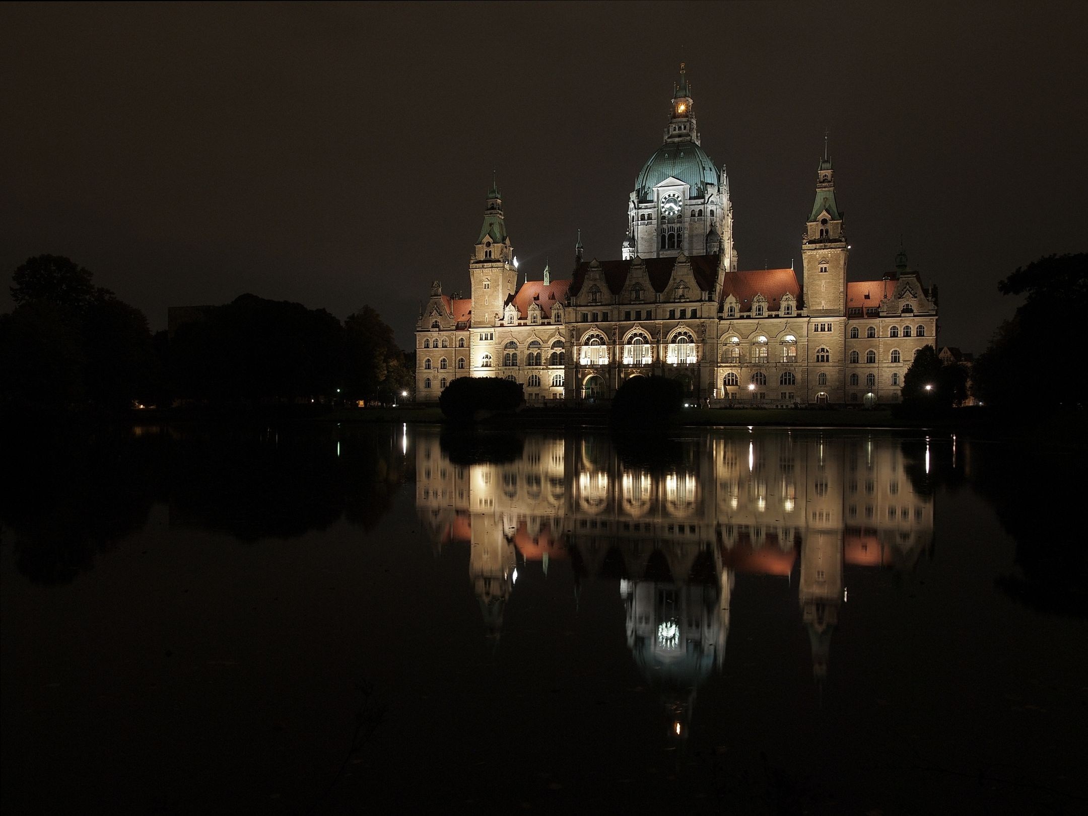 Neues Rathaus in Hannover.